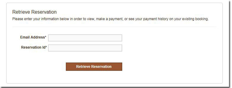 Click here if you already have a reservation number
